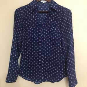 Express Portofino shirt with novelty anchor print